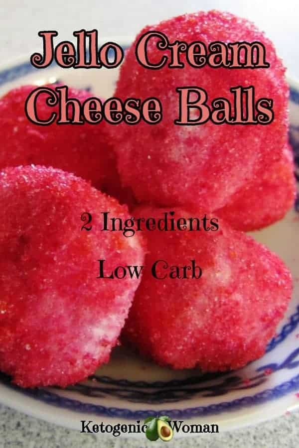 Low Carb Jello Cream Cheese Fat Bombs. Easy no bake recipe with 2 ingredients! Keto dessert snack that tastes like cheesecake!