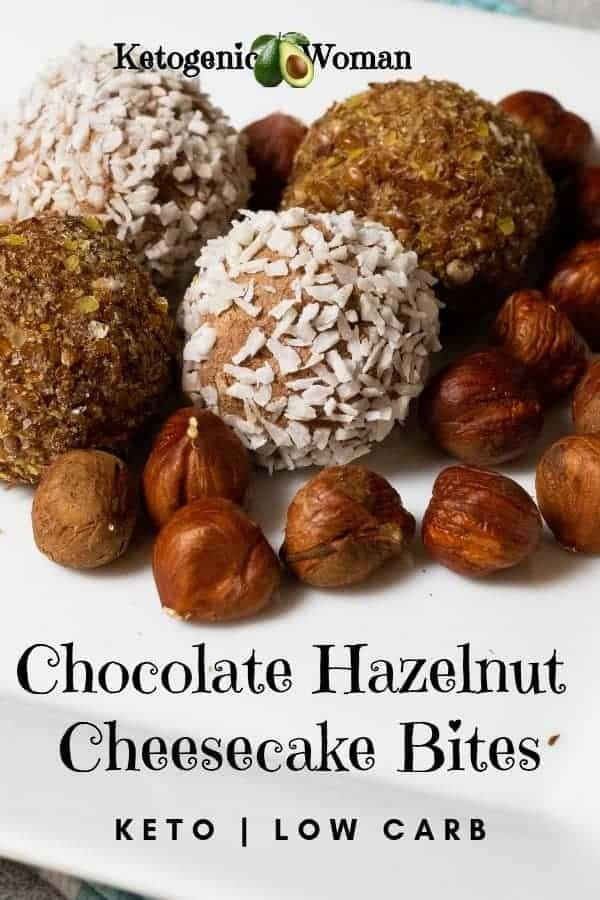 Keto Low Carb Hazelnut Cheesecake Chocolate fat bombs!