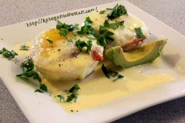 A plate of food with parsley garnish, with Egg and Sauce