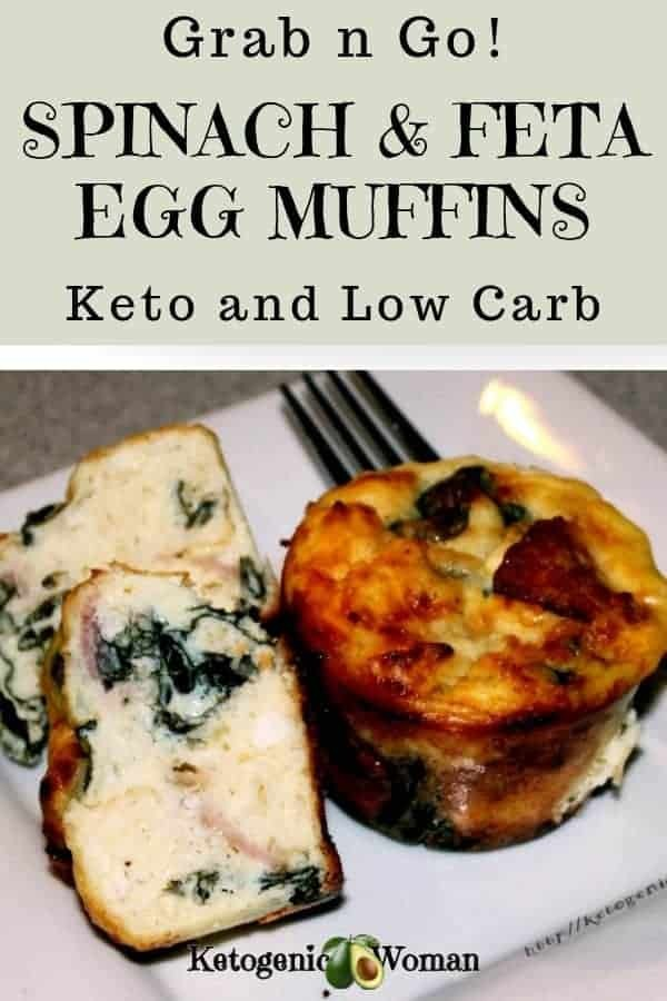 Low Carb Keto Spinach Feta Egg Muffins. Forget Starbucks, grab these instead!