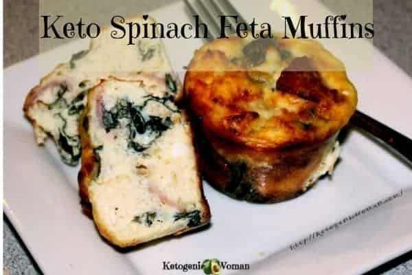 Easy Keto Spinach Feta Egg Muffins