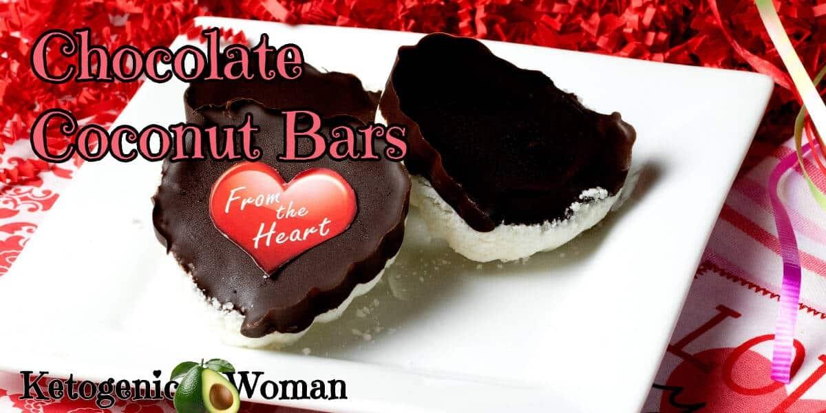 Keto Low Carb Chocolate Coconut Bars