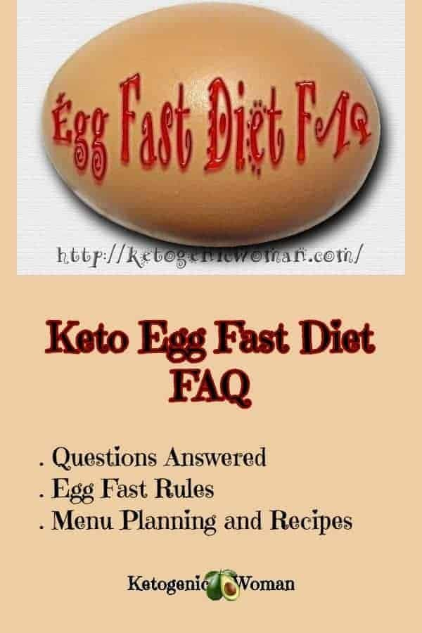 Keto Egg Fast FAQ. All your questions answered plus egg fast menu plans and recipes.