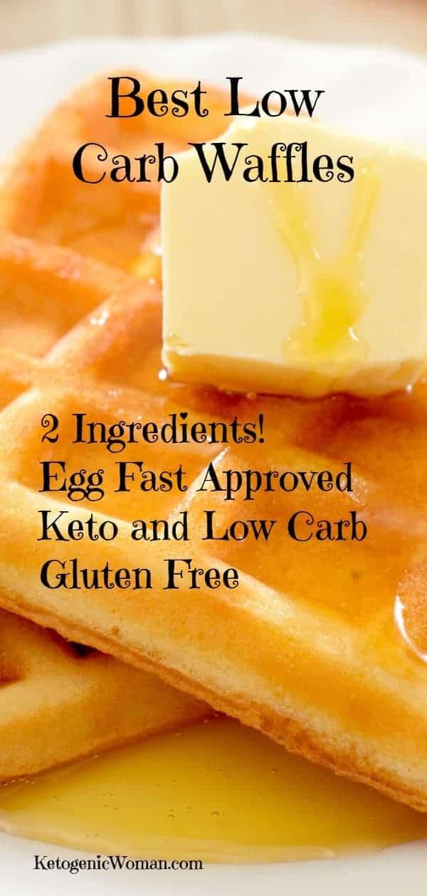 keto egg and cream cheese waffles