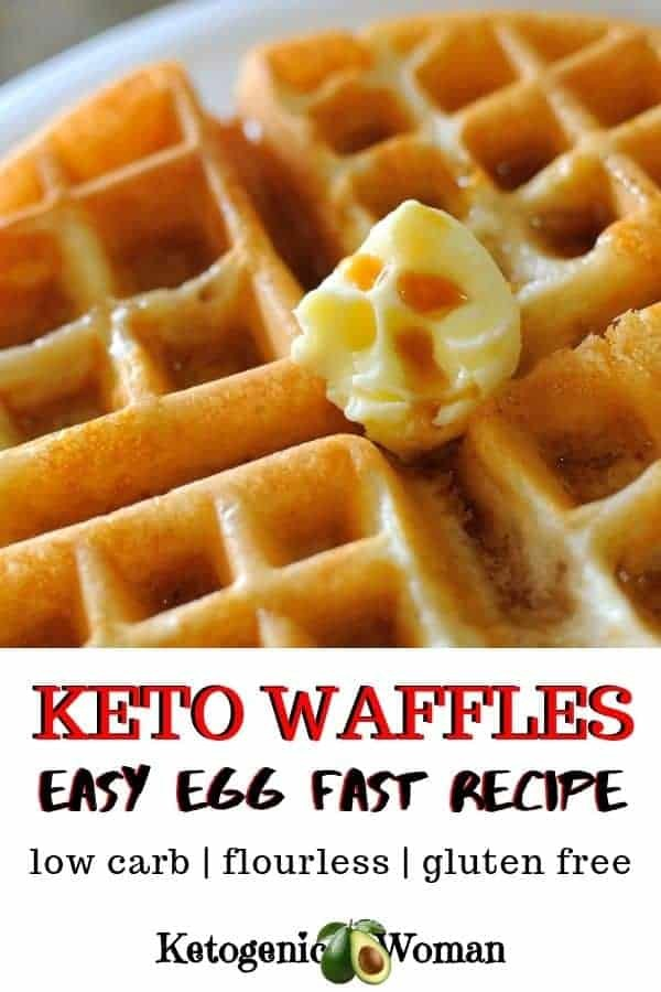 Easy low carb, keto waffles. 2 ingredients, simple and flourless.