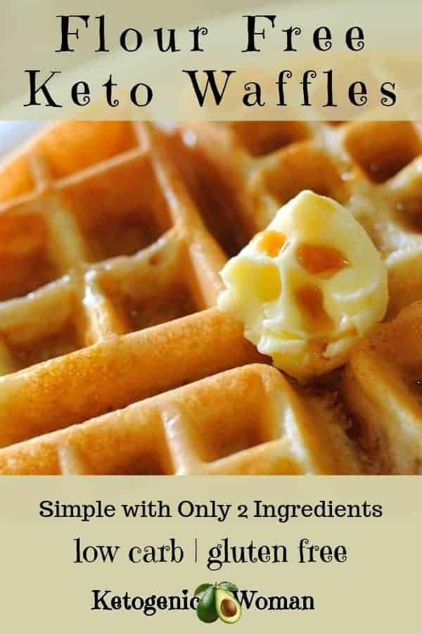 Easy low carb, keto waffles. 2 ingredient keto waffles, simple and flourless.