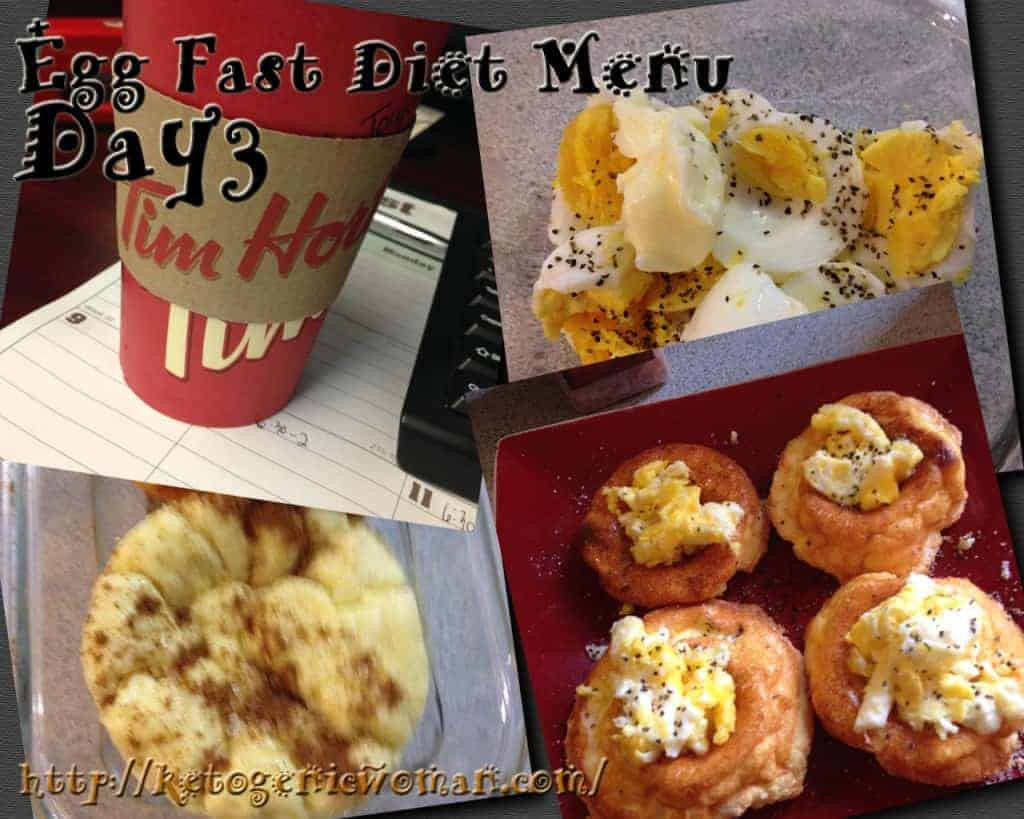 Egg Fast Diet Plan Day3