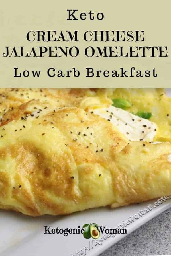 My favorite low carb breakfast is Keto Cream Cheese Jalapeno Popper omelette!