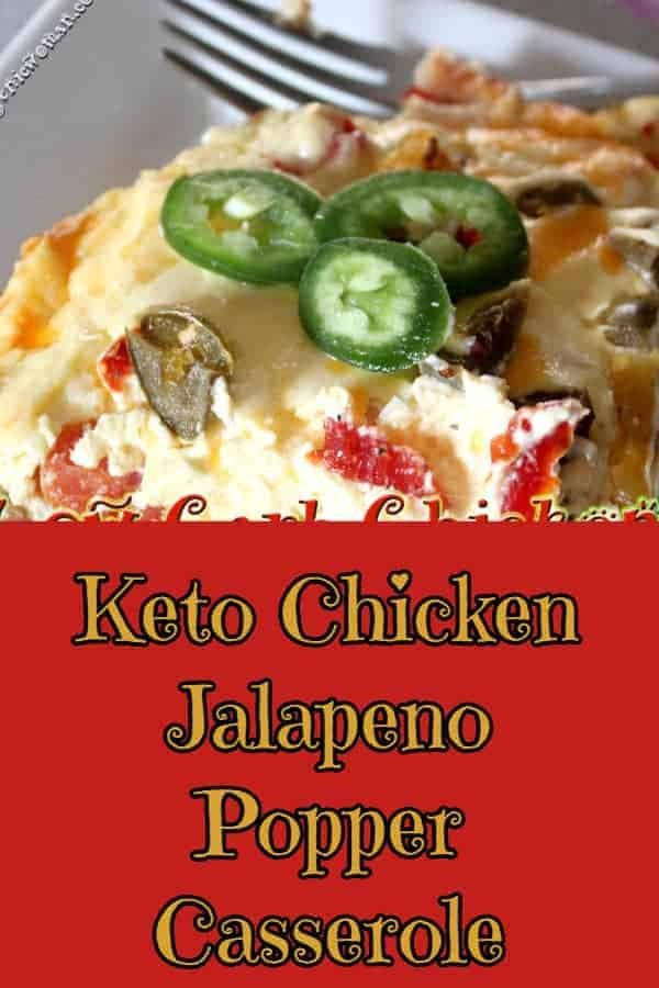 Keto Chicken Jalapeno Popper Recipe - Perfect for using up leftover Rotisserie chicken!