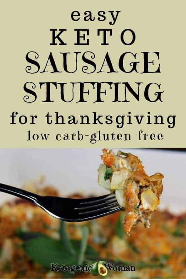 Text over fork of stuffing