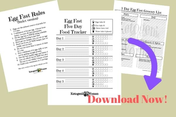 Free Egg Fast Printable Tracker, Grocery List and Rules