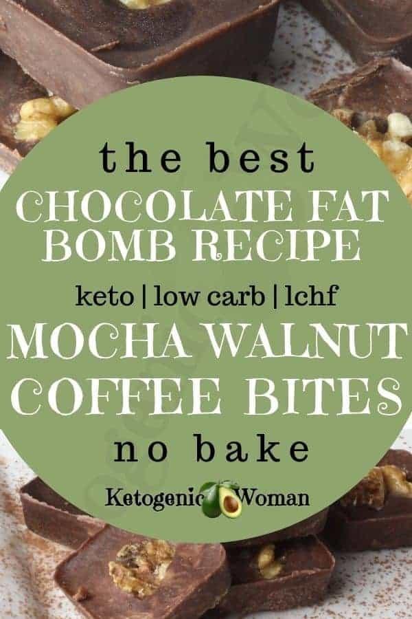 Keto mocha chocolate fat bomb recipe.
