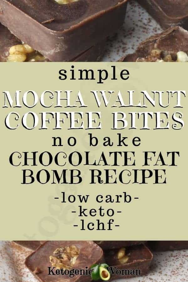 Easy and simple keto chocolate fat bomb recipe.