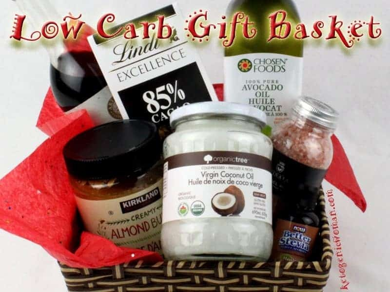 What to put in a keto gift box. Lots of Low Carb Gift Basket ideas for your next holiday!