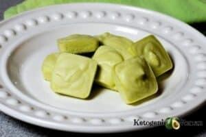 Matcha Tea Fat Bombs on white plate