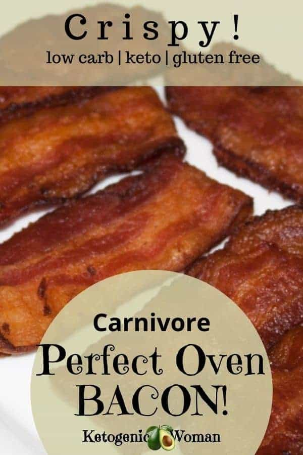Oven Cooked Bacon on plate