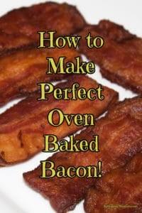 Crispy Oven Bacon Recipe