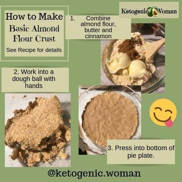 Pie crust for Keto Pumpkin Pie