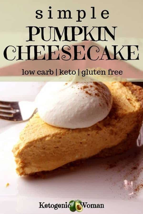 Low carb keto pumpkin cheesecake recipe