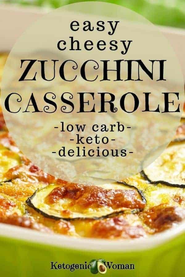 Keto zucchini casserole, low carb and delicious!