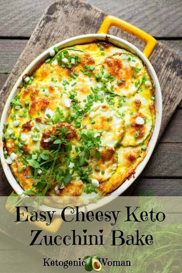 Easy Cheesy Baked Zucchini is going to be a family favorite! Perfect budget keto meal!