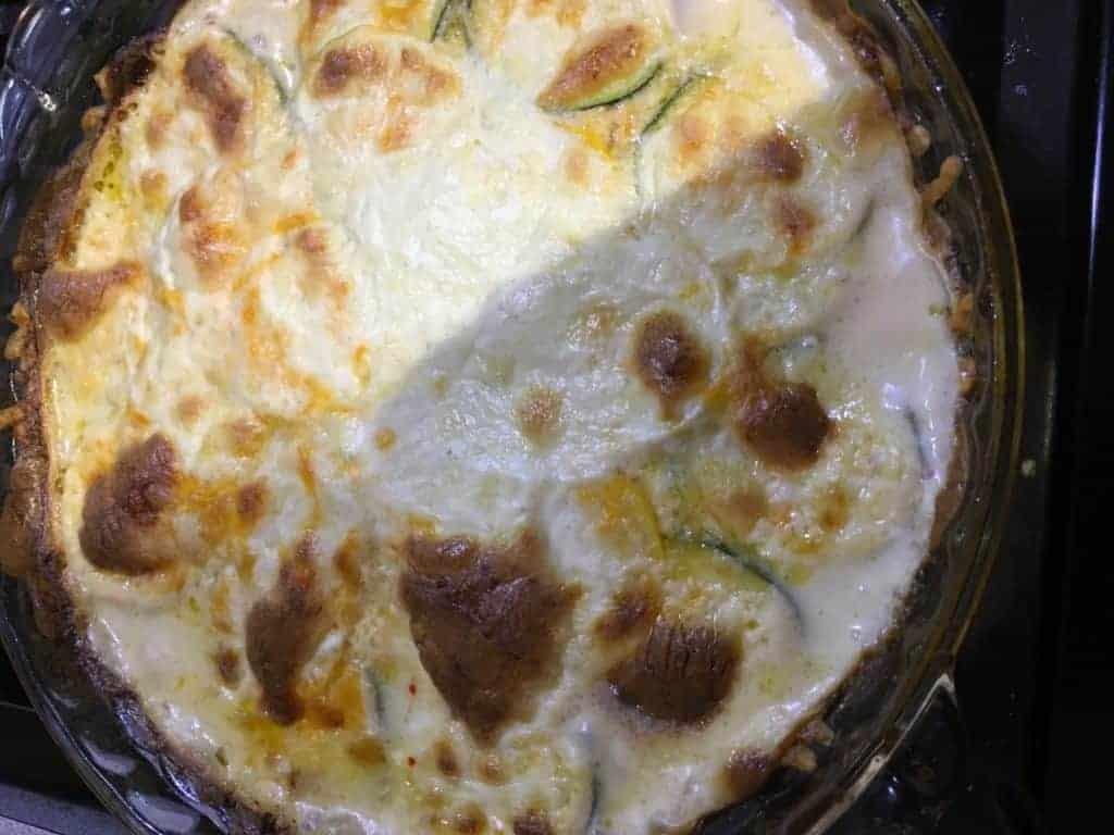 easy zucchini cheese casserole