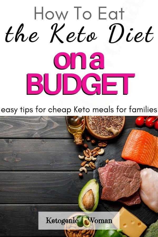 how to eat the keto diet on a budget pinterest pin image (1)