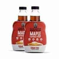 Lakanto Maple Flavored Sugar-Free Syrup, 1 Net Carb (Maple Syrup, 2 Pack, 13 Oz)