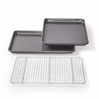 Chicago Metallic Professional Non-Stick Cookie/Jelly-Roll Pan Set with Cooling Rack, 17-Inch-by-12.25-Inch