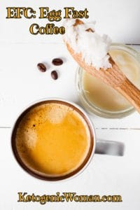 Keto Egg Fast Coffee - So easy and delicious way to start your keto morning!