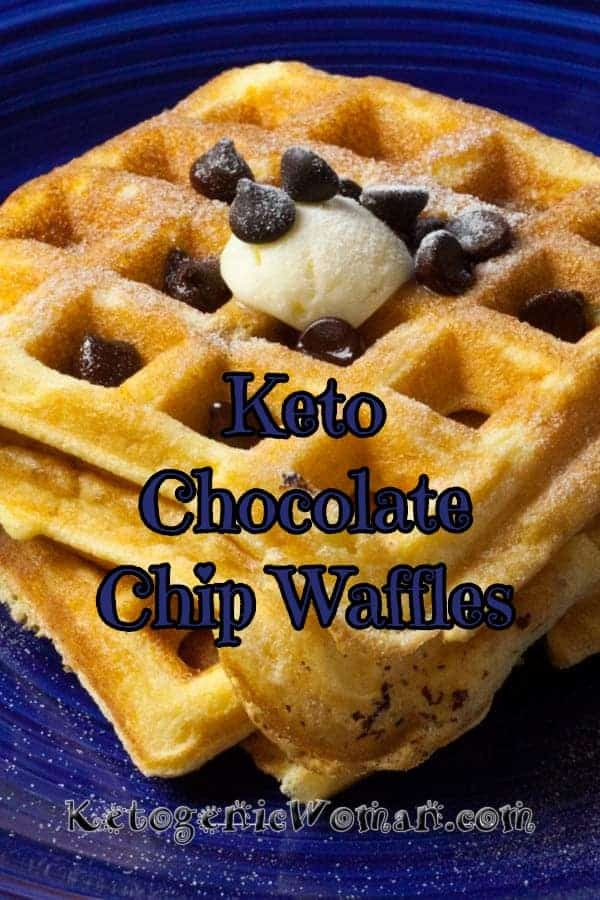 Fluffy Keto Chocolate Chip Waffles Recipe will make you forget about the local Waffle house!