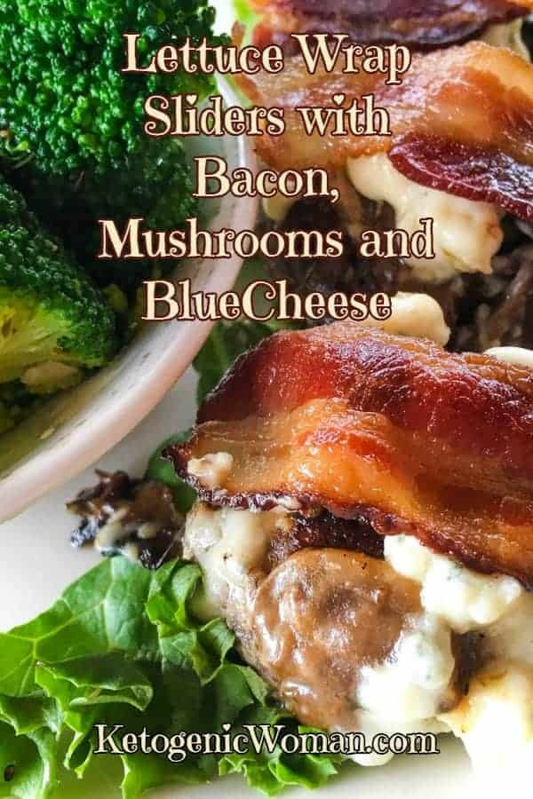 These Keto Lettuce Wrap Sliders feature a mouth watering combination of blue cheese, bacon and mushrooms! Every bite is bursting with flavor!