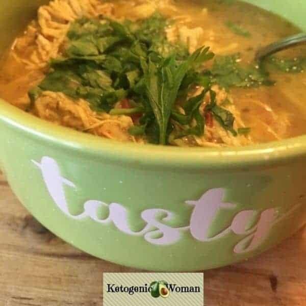 Keto Coconut Chicken Curry Soup