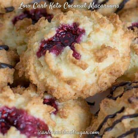 Keto Coconut Macaroons, Low Carb and Sugar Free