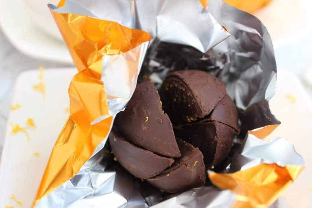 Keto chocolate orange terry balls