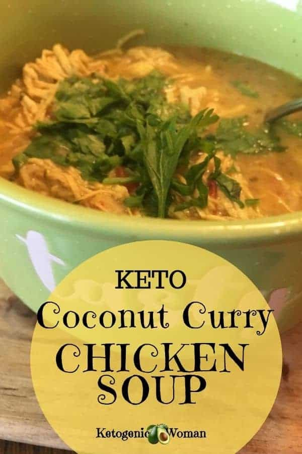 Keto Instant pot Coconut Curry Chicken Soup