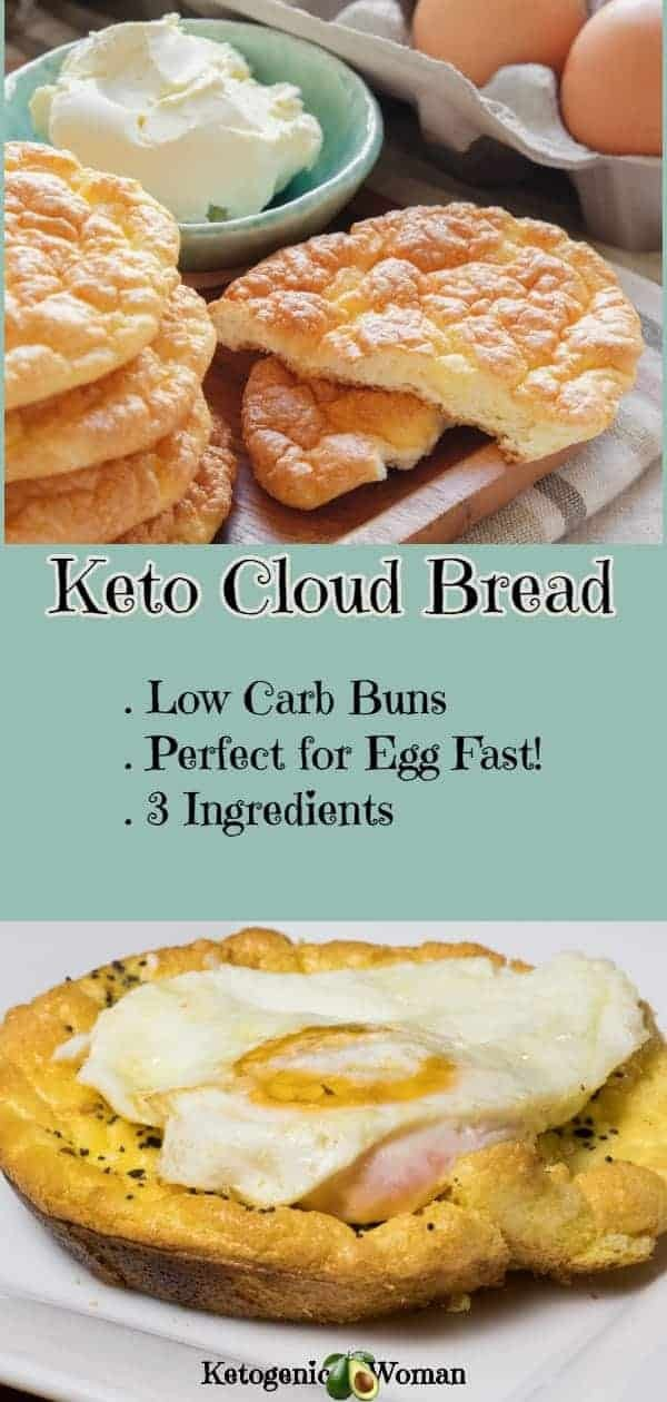 Keto Oopsie Roll Cloud Bread! Sure to become a staple substitute for buns and bread! Perfect on the Egg Fast too! Dairy free cloud bread option.