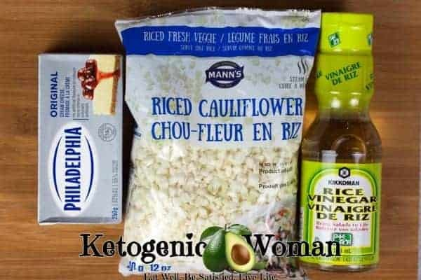 Low Carb Keto Sticky Rice ingredients