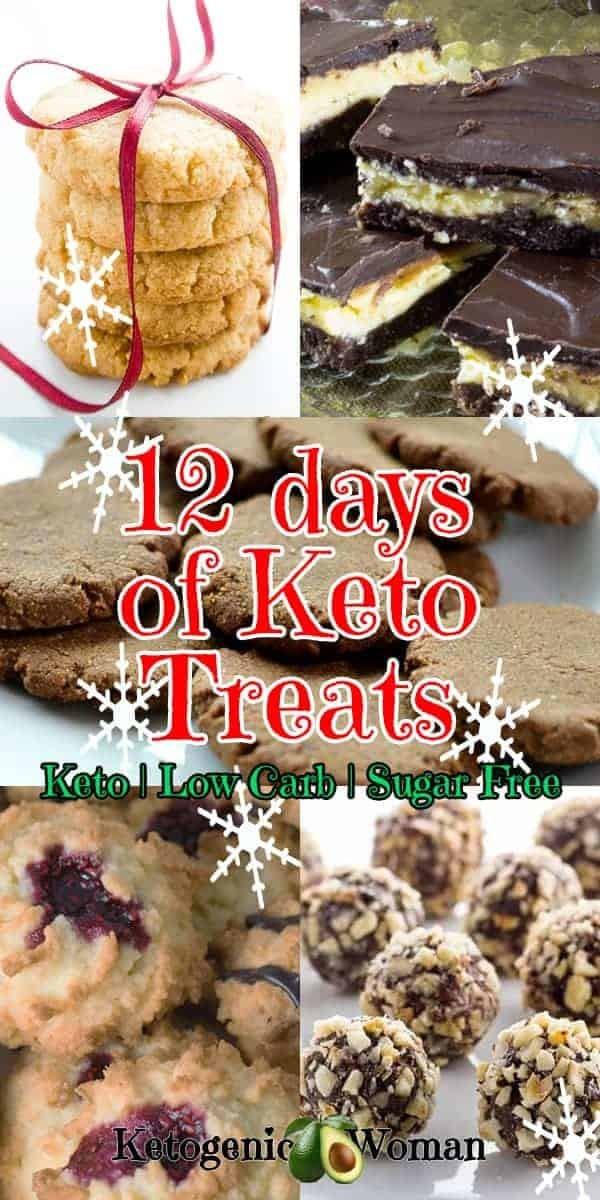 12 amazing Low Carb Keto Sugar free Gluten free Christmas desserts and treats.