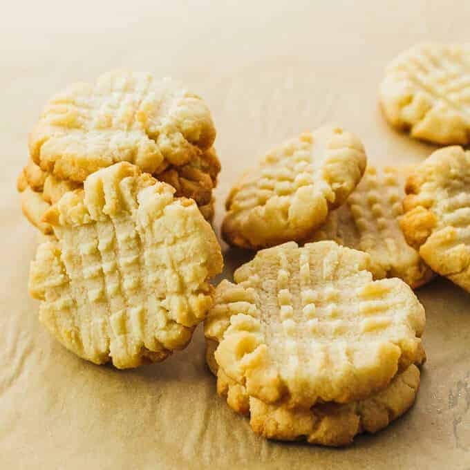 Low Carb Sugar Free Almond Butter Cookies