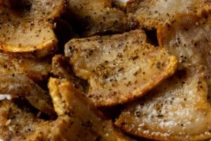 Air Fryer Crispy Pork Belly Strips