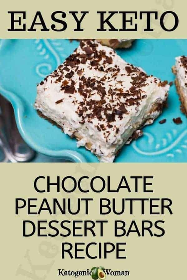 Easy Keto Chocolate Peanut Butter Dessert Bars Recipe