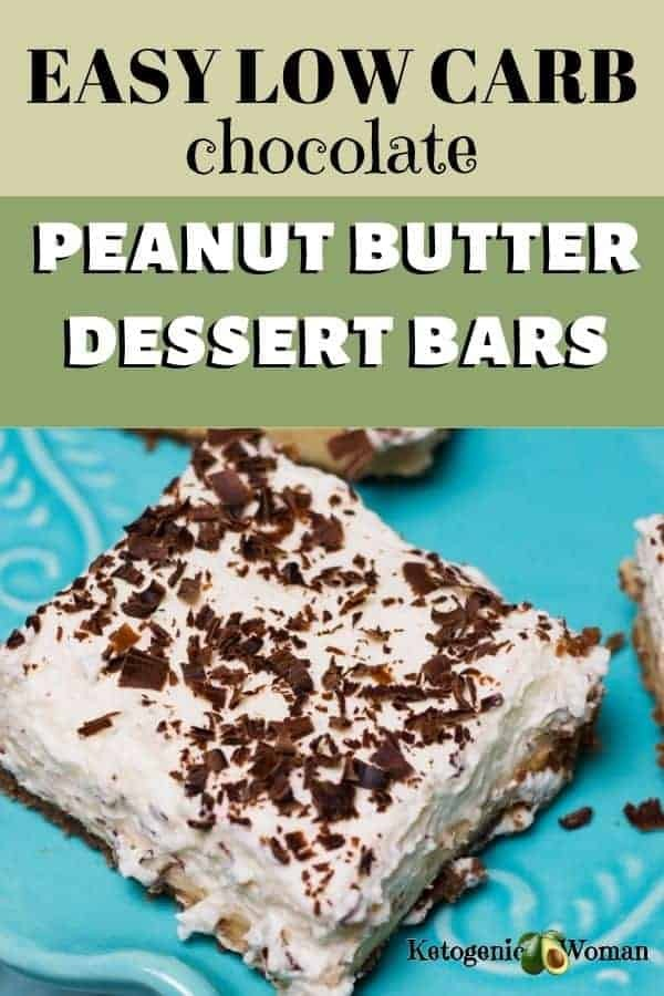 Easy Low Carb Chocolate Peanut Butter Dessert Bars Recipe