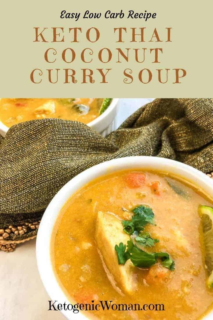 Keto Thai Coconut Curry Chicken Soup