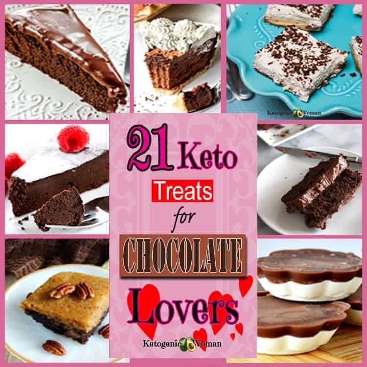 Keto Low Carb Valentine Chocolate desserts