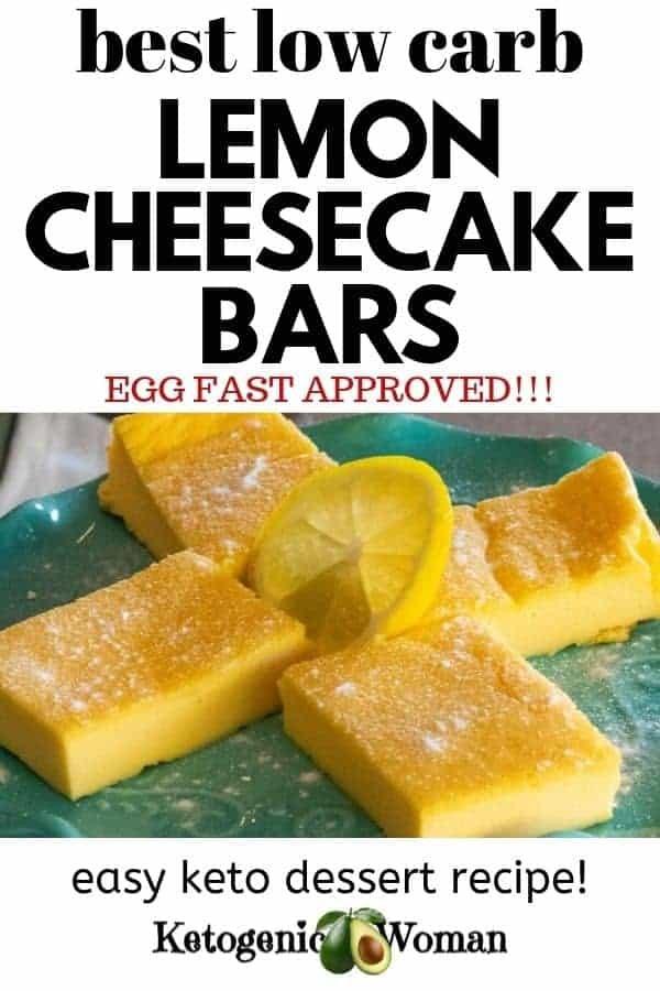 lemon bars on blue plate