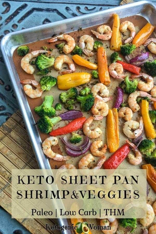 Keto Low Carb Paleo Sheet Pan Shrimp and Vegetables Recipe with Asian flavors. Fast, healthy whole food dinner.