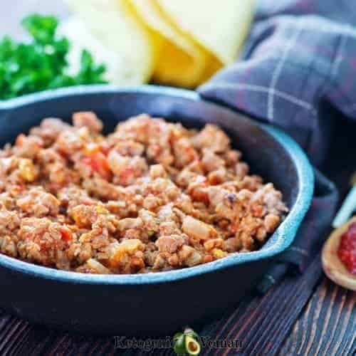 Spicy beef for keto tacos
