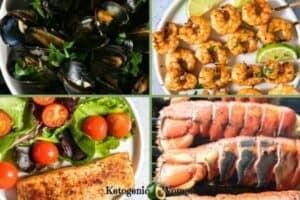 Keto Seafood collage