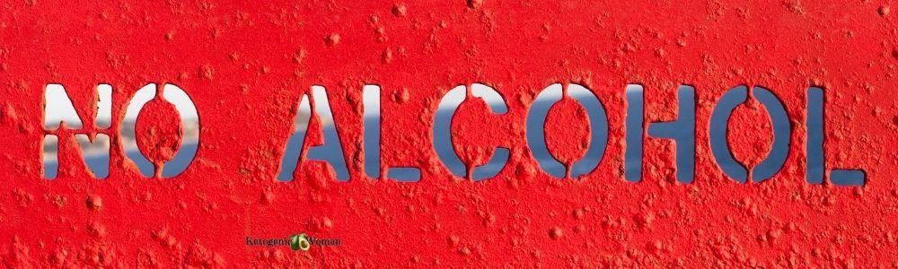 No Alcohol banner red background